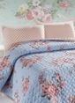 Eponj Home Tek Kişilik Yatak Örtüsü Mavi